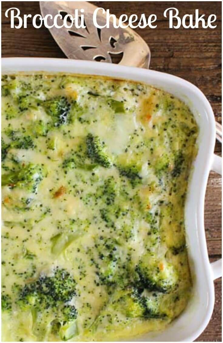 Broccoli Cheese Bake is a delicious creamy and cheesy baked broccoli side dish…