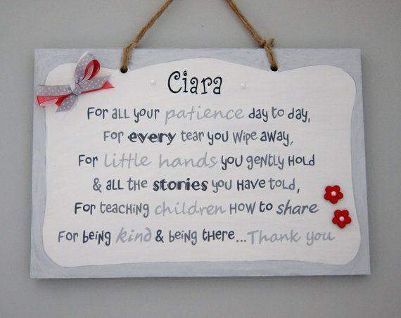 Personalised Childminder Gift Unique Teacher Gift Thank You Unique Teachers Gift Thank You Teacher Gifts Teacher Gifts
