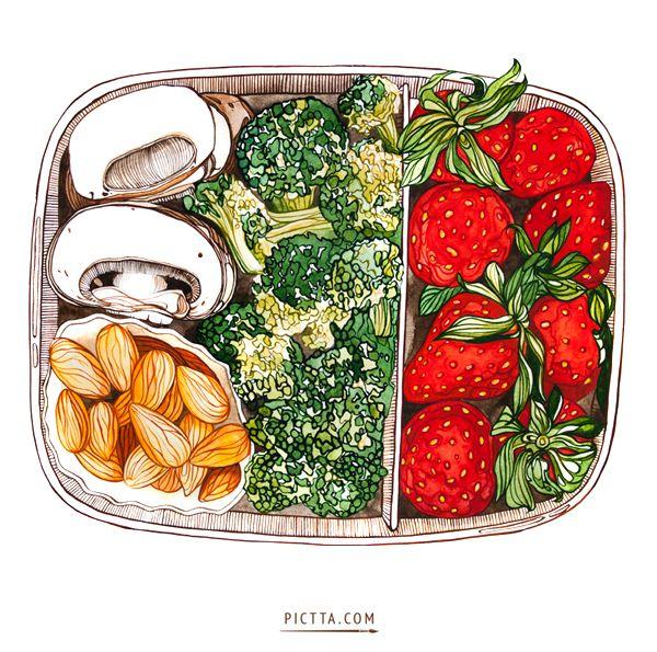 FOODS on Illustration Served