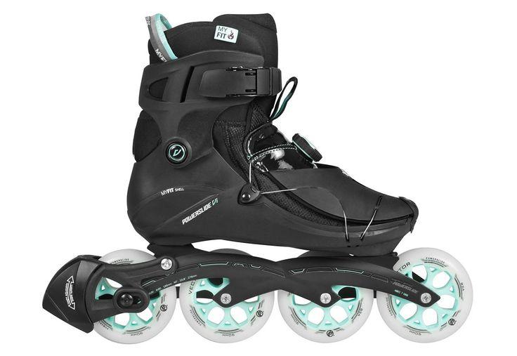 """Powerslide Inline Skates Damen, »VI Flyte Pure«.  Leichteste Fitness Skates der Welt für Erwachsene! Sportliche Inliner mit """"Clap Snap Wrap"""" 360° Schnellschnürsystem inkl. Atop Drehverschluss. Der belüftete Innenschuh sorgt für ein angenehmes Fußklima. Durch Hitze lässt sich der MYFIT Innenschuh an den Fuß perfekt anpassen und sorgt für hervorragenden Komfort. Dieser Fitness Skate ist ein Super..."""
