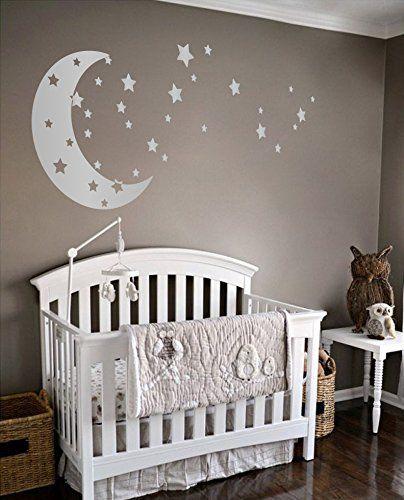 Moon and Stars Night Sky Vinyl Wall Art Decal Sticker Des...
