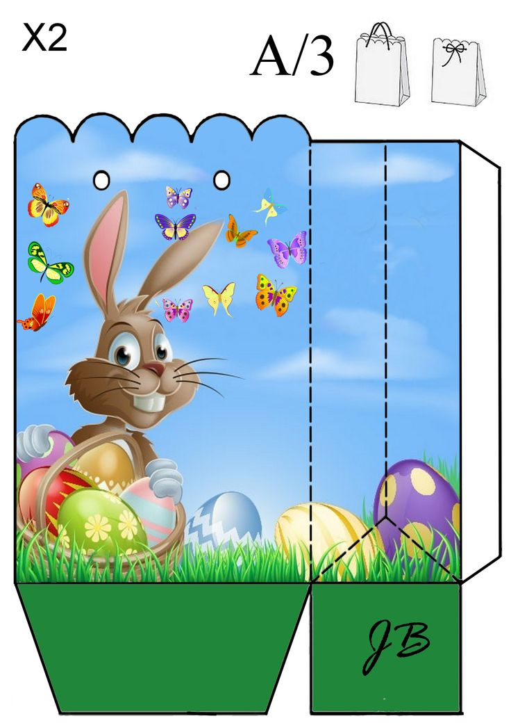 69 best gift box 2 images on pinterest easter box templates and bunny bag negle Images