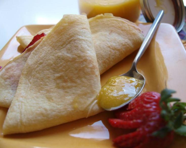 Olga Petrik fills our 10 Minute Crepes with lemon curd and fresh strawberries.