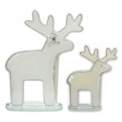 Fused Glass - Reindeer White - Small by Nobile Glassware