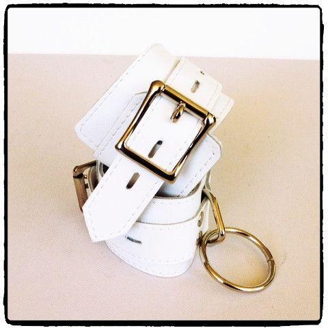 White Leather Cuffs – Lady Kink