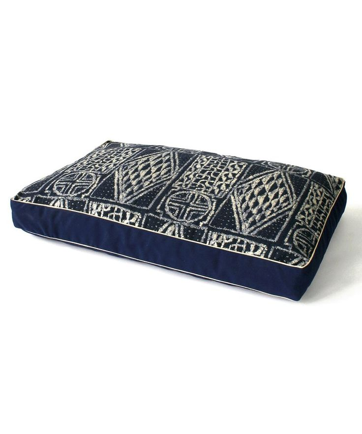 The hand-painted look of the print on this Fathom Ikat Dog Bed ($275-$635) feels worldly — perfect for an eclectic abode.