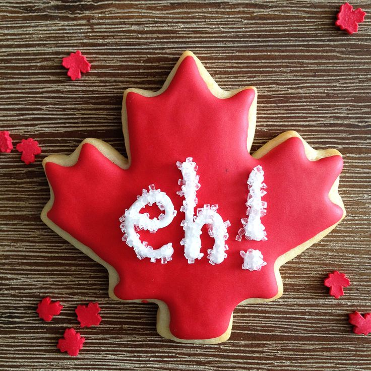 Happy Canada Day Maple Leaf Sugar Cookies. Eh! By Bake Sale Toronto.