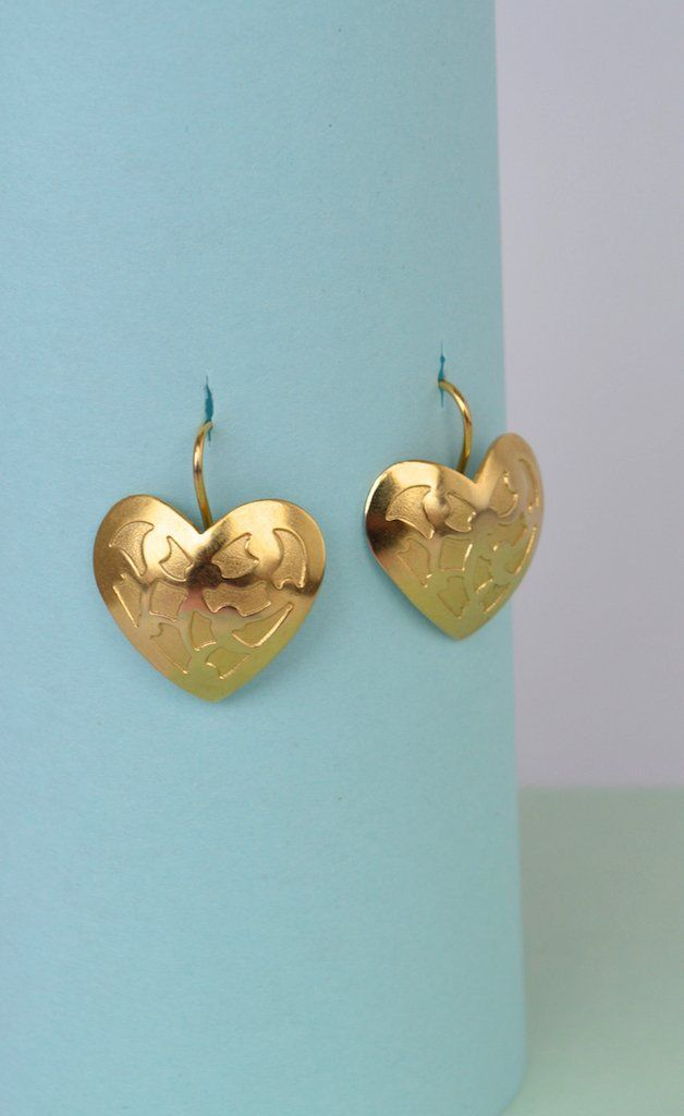 Earrings-Engraved heart-Kavanna Jewels