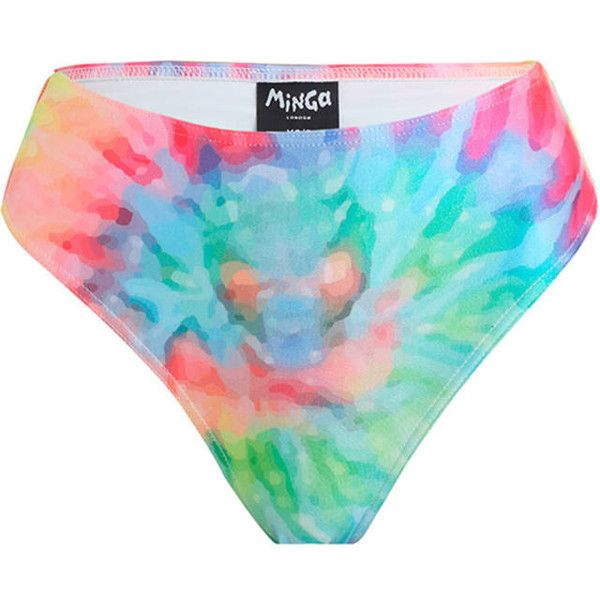 Tie Dye Bikini Brief High Leg Waist Bottom Womens Swimsuit Tumblr... ($26) ❤ liked on Polyvore featuring swimwear, bikinis, bikini bottoms, silver, women's clothing, swimming bikini, silver bikini, swimsuits two piece, boho bikini and swimsuits bikinis