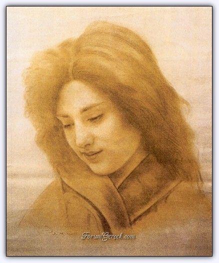 Süleyman Seyyid (1842 - 1913)   Osmanlı Dönemi Türk Ressamı -Kâğıt Üzerine Sepya (T. İş Bankası Koleksiyonu)