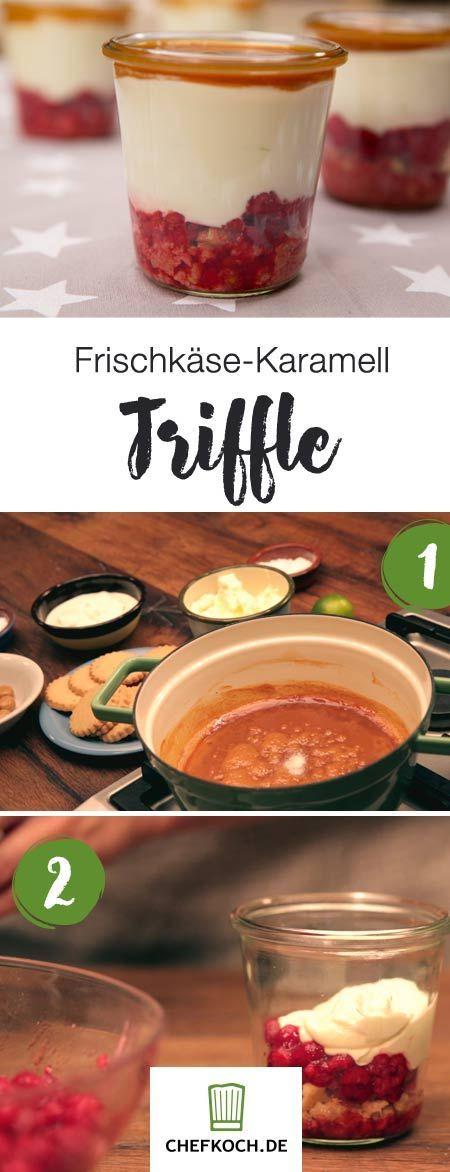 Frischkäse-Karamell-Trifle