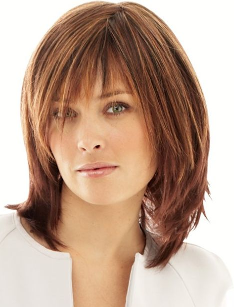 Classic and Intellectual Chin-length Straight Bob Monofilament Top Basic Cap Human Hair Wig with Bangs 12 Inches