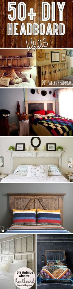 50+ Outstanding DIY Headboard Ideas To Spice Up Your Bedroom! - Here you will find no less than 50 different DIY headboard ideas that will help you spice up your bedroom and make your bed more comfortable and visually appealing, without having to overspend on materials!