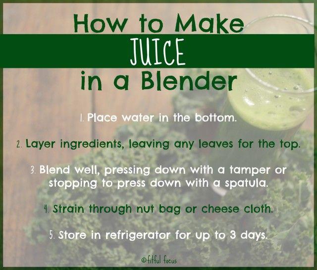 How to Make Juice in a Blender via Fitful Focus #howto #juice #blender