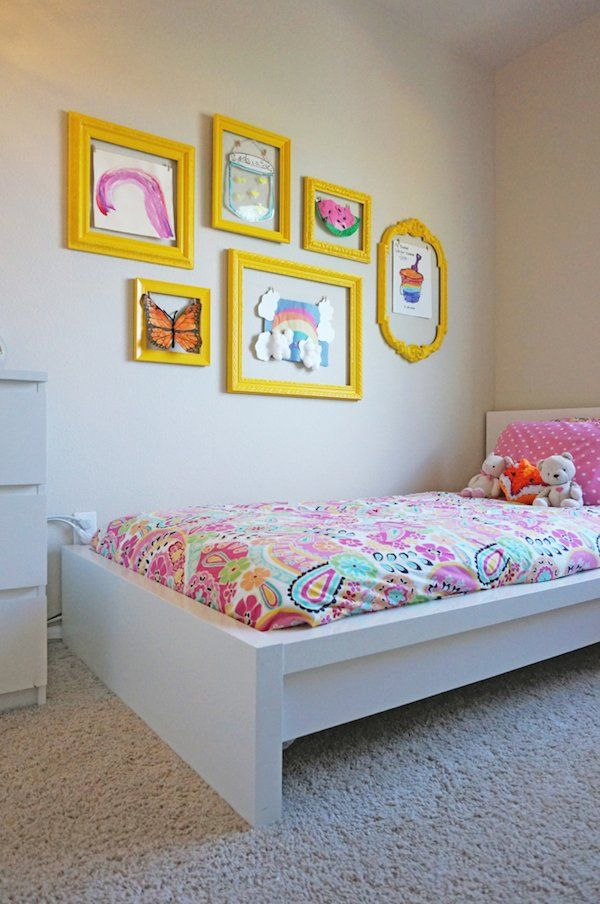 Ideas para decorar paredes con los dibujos de los niños. Cómo colgar los dibujos de los peques de manera creativa y práctica.