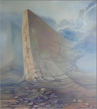 Monument II 73 x 65 cm olej na płótnie