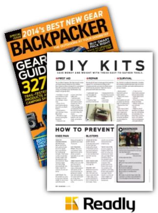 Suggestion about Backpacker Gear Guide 2014 page 102
