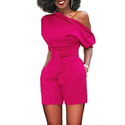 buy popular 5a015 8f56e Jumpsuit Schwarz lang elegant Damen Overall Sommer Off ...