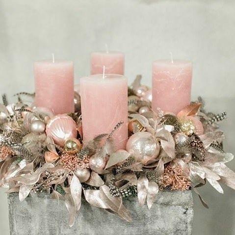 instagram weihnachtsdeko rosa deko kranz weihnachten. Black Bedroom Furniture Sets. Home Design Ideas