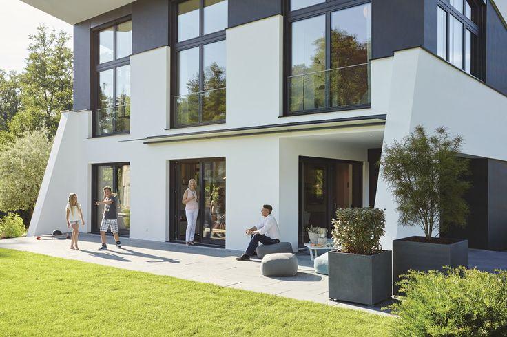 #Terrasse #Familie #Glasdach #weberhaus