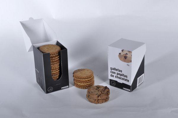 Cookies packaging by Imanol Buisan, via Behance