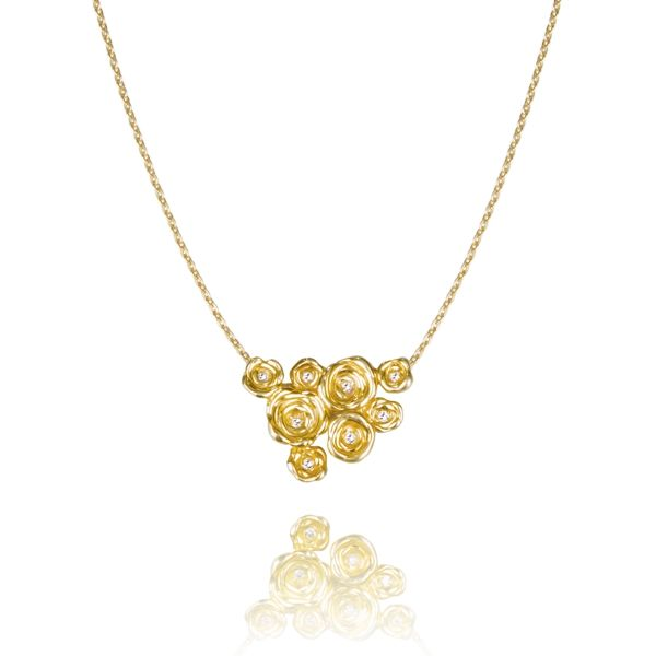 One of a kind gold necklace with diamonds. A great way to treasure yourself for your day D. Precious Collection | 27jewelry.com