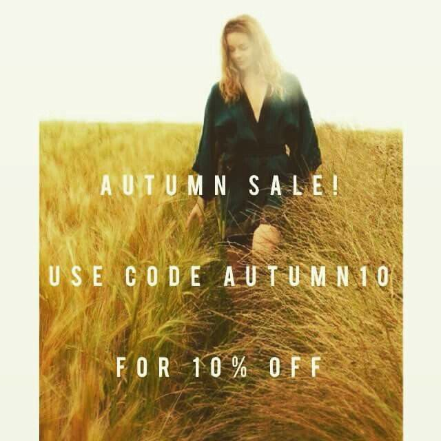 "🍂 Happy autumn everyone! 🍂 to celebrate the new season we are offering 10% all etsy purchases until the end of October! Just use the code ""AUTUMN10"" at the checkout. 🎃"