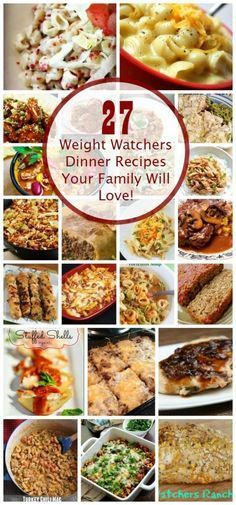 Halthy eating for weight loss is easy with these Free Weight Watcher's Dinner Recipes with Points Plus #recipes