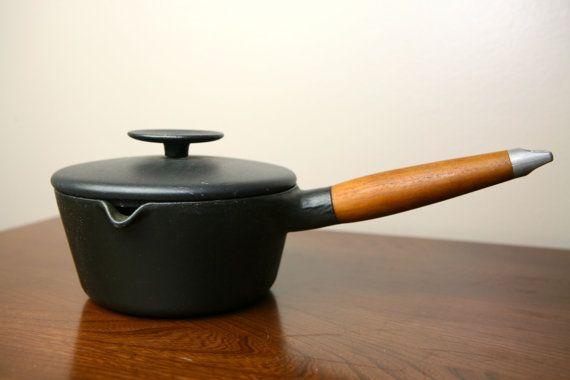 Copco Denmark Black Saucepan Designed by Michael Lax