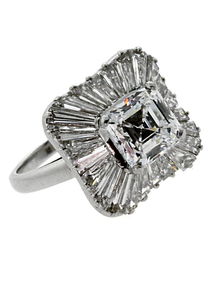 bulgari ballerina diamond engagement ring in platinum