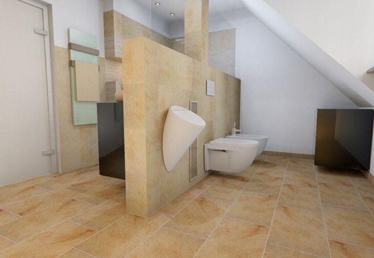 Dusche Dachschr?ge Fliesen : Dachschr?ge im Bad mit Raumteiler Dachschr?ge Pinterest
