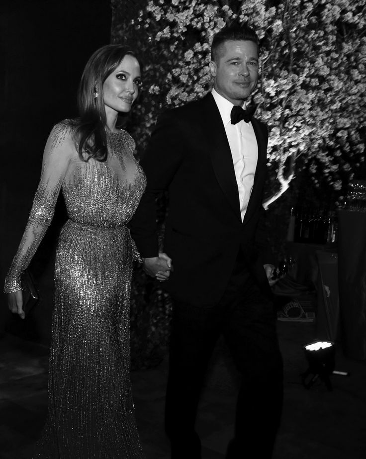 Angelina Jolie and Brad Pitt, Oscar parties, 2014.