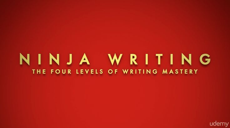 Ninja Writing: The Four Levels Of Writing Mastery – 95% Udemy Discount Coupon