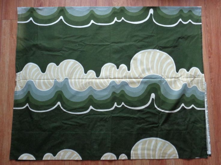 """1970s Barbara Brenner TAMPELLA Finland Intair 57x91"""" curtain fabric Sottsass #IntairTampella"""