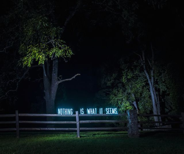 Neon Sign Installations by Olivia Steele.