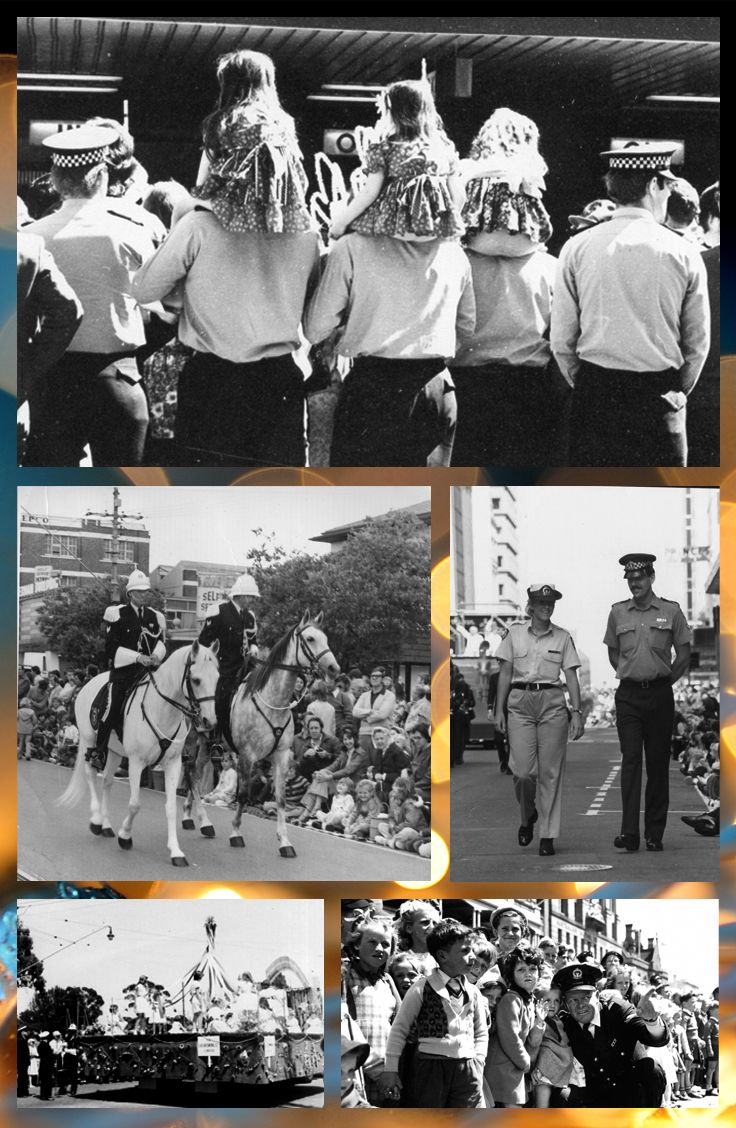 A collection of historical photographs of South Australia Police attending Adelaide's much-loved Christmas Pageant. #Christmas #Pageant #Adelaide