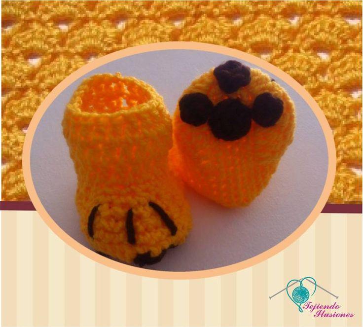 Modelo N° 67: Botitas Garritas tejidas a crochet