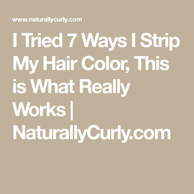 Ich habe 7 Möglichkeiten ausprobiert, wie ich meine Haarfarbe ausziehe. Das funktioniert wirklich