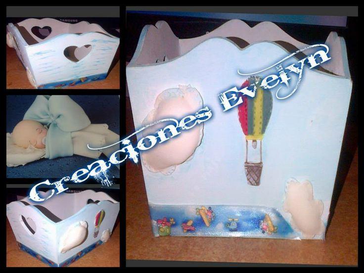 caja de madera personalizada, lindo regalo para un recien nacido ,pedilo con tu set d baño