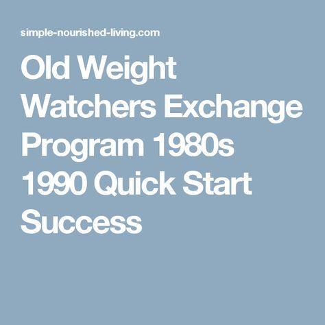 Old Weight Watchers Exchange Program 1980s 1990 Quick Start Success