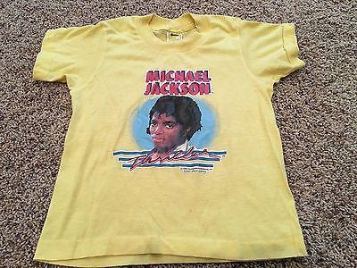 Vintage 80's Michael Jackson Thriller 1984 Concert T-Shirt Size Kids 7 RARE