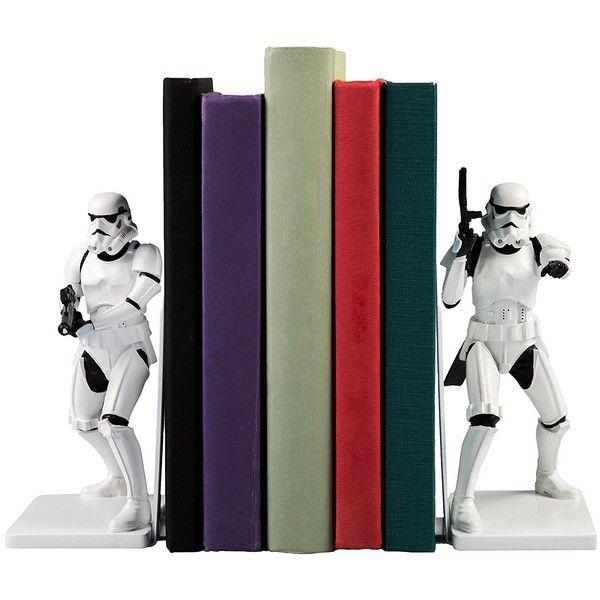 "Star Wars Stormtrooper Decorative Bookends Resin Statues 6.75"" Tall ($80) ❤ liked on Polyvore featuring home, home decor, stormtrooper statue, star wars home accessories, star wars home decor, star wars statues and resin statues"