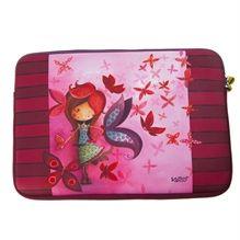 "Étui à portable Ketto 15"" - Fille papillon / Ketto's laptop sleeve 15"" - Butterfly girl * Fabriqué en néoprène / Made of neoprene * www.kettodesign.com"