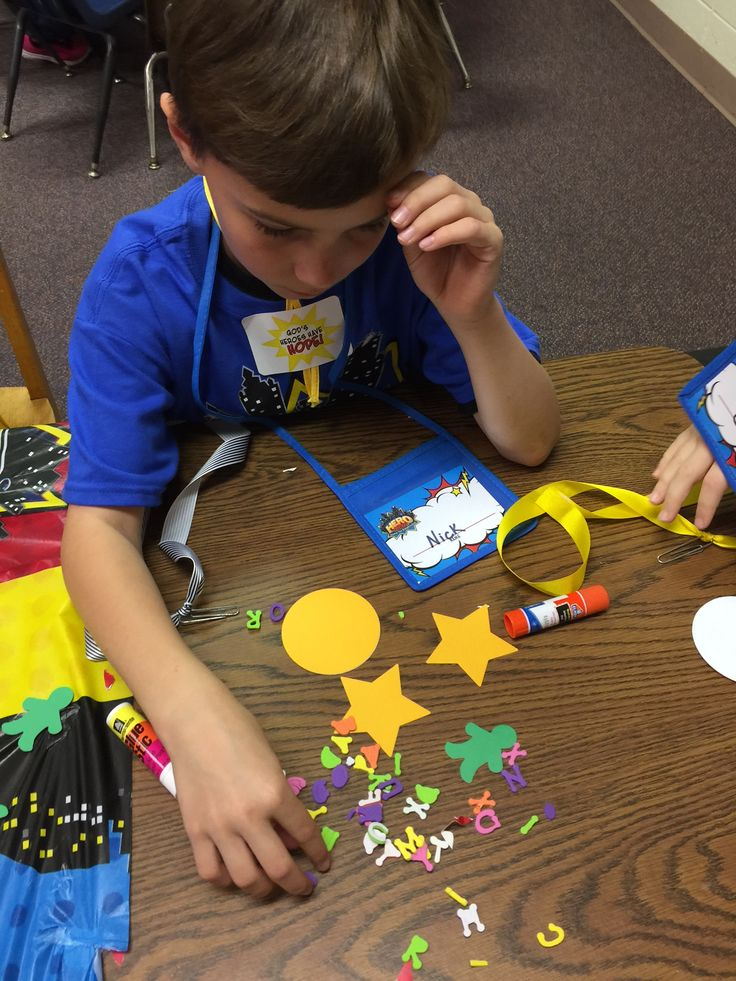 Craft time fun kids will love creating their hero medal for Make it take it crafts