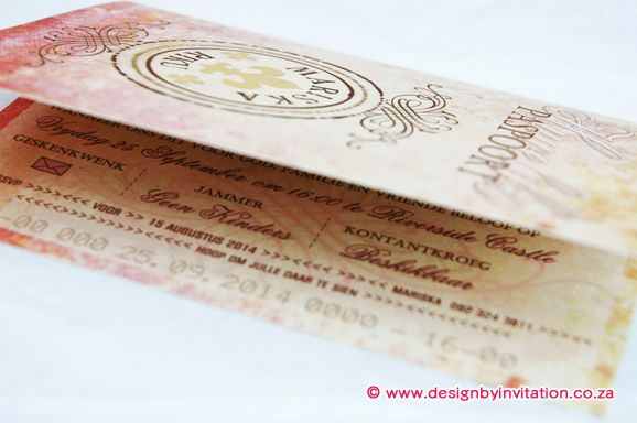 Passport Invitation Paspoort Uitnodiging © www.designbyinvitation.co.za
