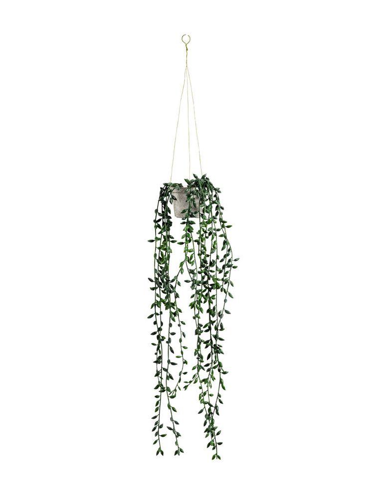 plante retombante | Plante tombante artificielle dans pot à suspendre - helline