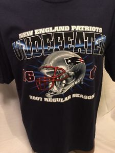 NFL New England Patriots 2007 Undefeated Regular Season 16 0 Sz Large New | eBay