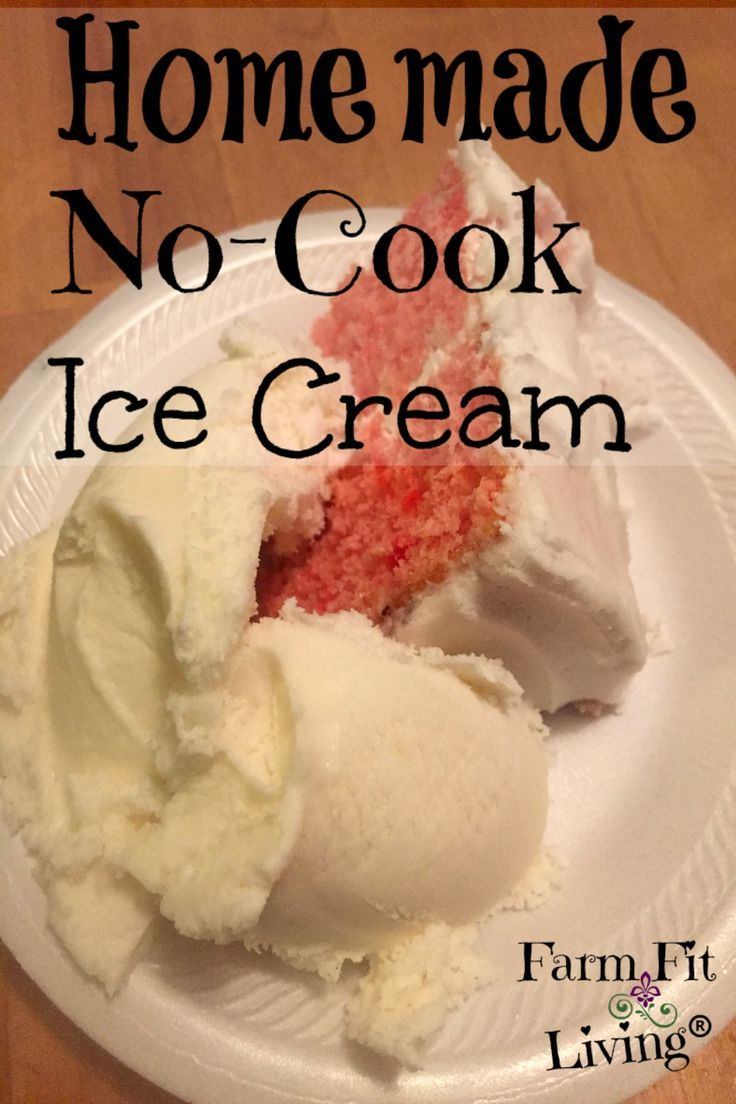 Homemade No Cook Ice Cream Recipe For The Whole Family In 2020 No Cook Ice Cream Recipe Ice Cream Farm Ice Cream Recipes