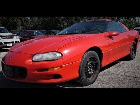 1999 CHEVROLET CAMARO  BRIGHT RED / 3.8L 6 CYL / AUTOMATIC / 19 CITY / 30 HWY 124K Miles / 3.23 rear axle / CD Player  $3250  @MarkALongstreet  #Chevy #Camaro @Chevy @Camaro @ChevyCamaro  https://youtu.be/xRAZCQ6ASBI