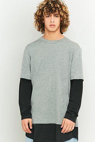 Cheap Monday - T-shirt gris effet manches longues